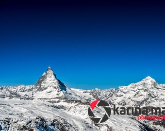 Mountain Scenery Photograph, Matterhorn Mountain, Swiss alps, Switzerland, Zermatt, Wall Art, Home Decor