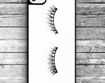 Eyelash case - Hard plastic - black / iPhone 4/4S, iPhone 5/5S, iPhone 5c, iPhone 6/6s/6 Plus/6s Plus iphone 7/7 Plus - NAT-006