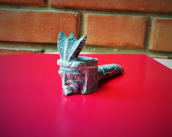 Indian Chief Stone Pipe- Large