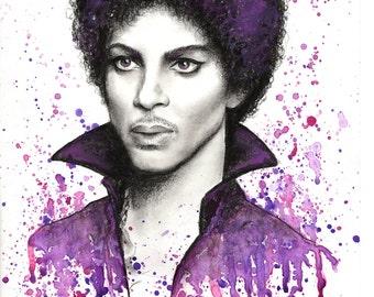 Prince Purple Rain painting illustration ORIGINAL or print