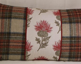 Cushion Covers Voyage Ecosse Thistle Red Abraham Moon Tartan wool