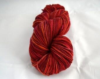 Hand Dyed Yarn, 100% Superwash Bluefaced Leicester, DK Weight, UK yarn, Targaryen