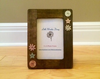 4x6 Picture Frame / Wood Picture Frame / Country Decor / Rustic Decor / Rustic Picture Frame