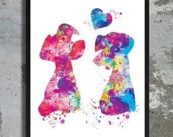 101 Dalmatians Watercolor Print Dog Painting Dog Watercolor Dog Home Decor Disney watercolor Dalmatian print Dog wedding gift Bride Groom