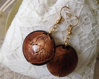 CRUSHED crushed PEARL EARRING Earring: Murano glass.