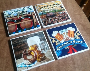 Oktoberfest Coasters Custom Stone Coasters Custom Ceramic Coasters Personalized Coasters Beer Coasters Custom Photo Coasters Mancav Coaster