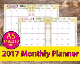 student planner 2017-2018 A5 student planner college student