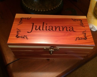 Personalized Cedar Box - Medium