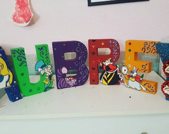Alice in wonderland theme letters