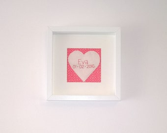 Personalized love heart embroidery