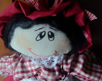 country-style bag holder doll