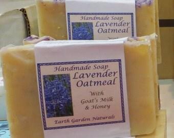 Lavender, Oatmeal, Goat's Milk and Honey Soap