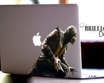 Scorpion, Scorpion Decal, Scorpion Sticker, Scorpion Skin, Scorpion Decal Macbook , Scorpion Macbook Decal,Mortal Kombat,  MacBook Pro, Gift