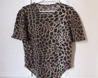 Vintage 80s Leopard Bodysuit