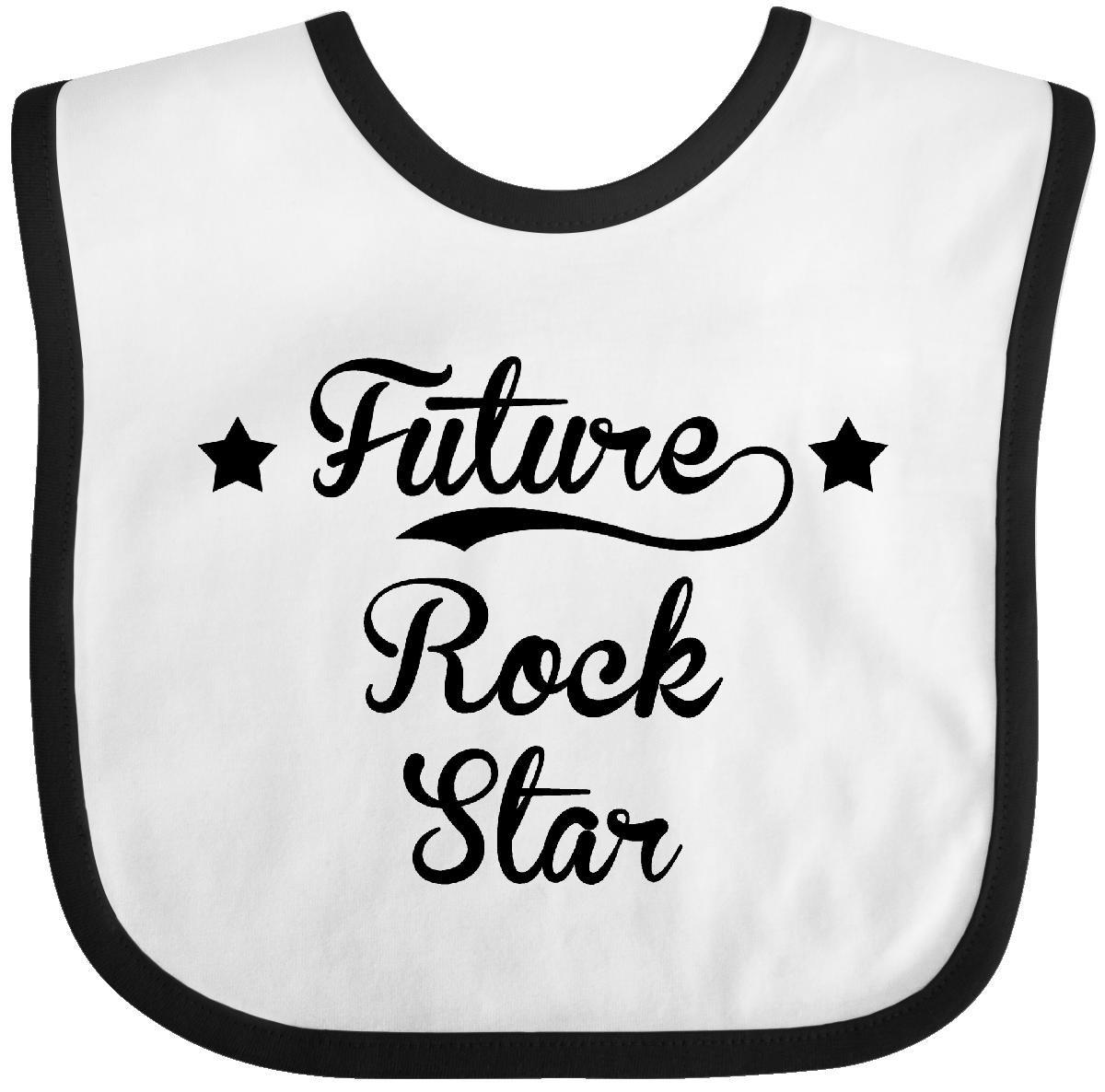future rock star baby bib by inktastic. Black Bedroom Furniture Sets. Home Design Ideas