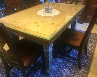 French Country Farm Table with extending leaves