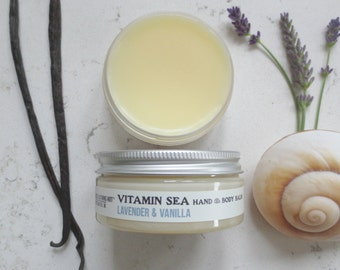 Lavender & Vanilla Natural Balm - Vitamin Sea Hand and Body Balm, Beauty Balm, Salve, Vegan, Natural Skincare