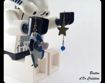 Star Wars - Boba Fett ship earrings