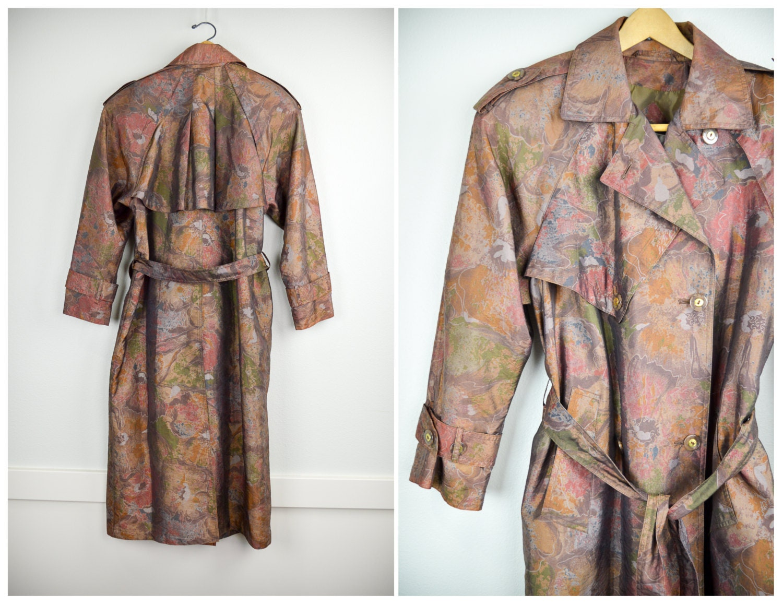 80s trench coat vintage clothing 80s clothing oversized