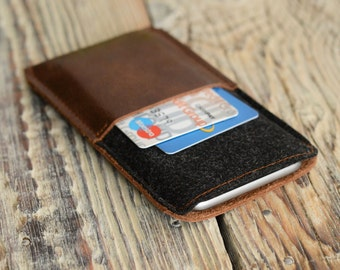 Leather case iPhone 6 case Handmade phone case iPhone 6 sleeve Leather iPhone case Christmas gift