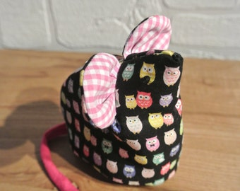 "Purse ""little mouse"" for girl, zip-top"