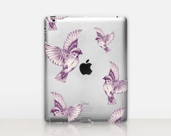 Birds Transparent iPad Case For - iPad 2, iPad 3, iPad 4 - iPad Mini - iPad Air - iPad Mini 4 - iPad Pro