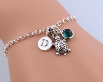 Sterling Silver Tortoise Bracelet, Pet Turtle Bracelet, Silver Tortoise Jewelry, Tiny Tortoise Charm Bracelet, Pet Tortoise, Personalized