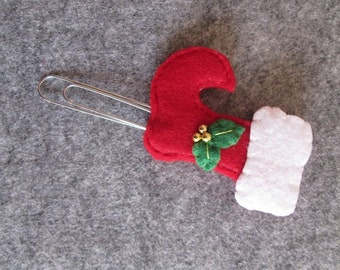 Planner clip; Stocking stuffers; Christmas paper clip;  bookmark; felt bookmark; Gift under 5; Planner accessories; Gift for readers