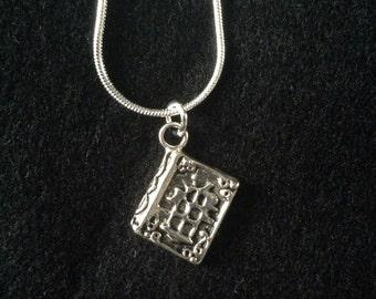 Spellbook pendant necklace