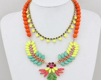 Statement Necklace, beaded Necklace, Bib Necklace