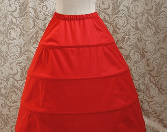 Hoop skirt / Crinoline underskirt - made to measure - all colours