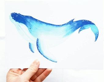 Humpback Whale A5 print