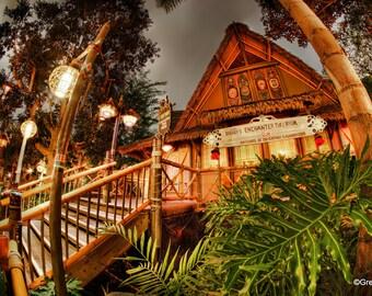 Disneyland's Enchanted Tiki Room, Metallic Paper  / Metal Print