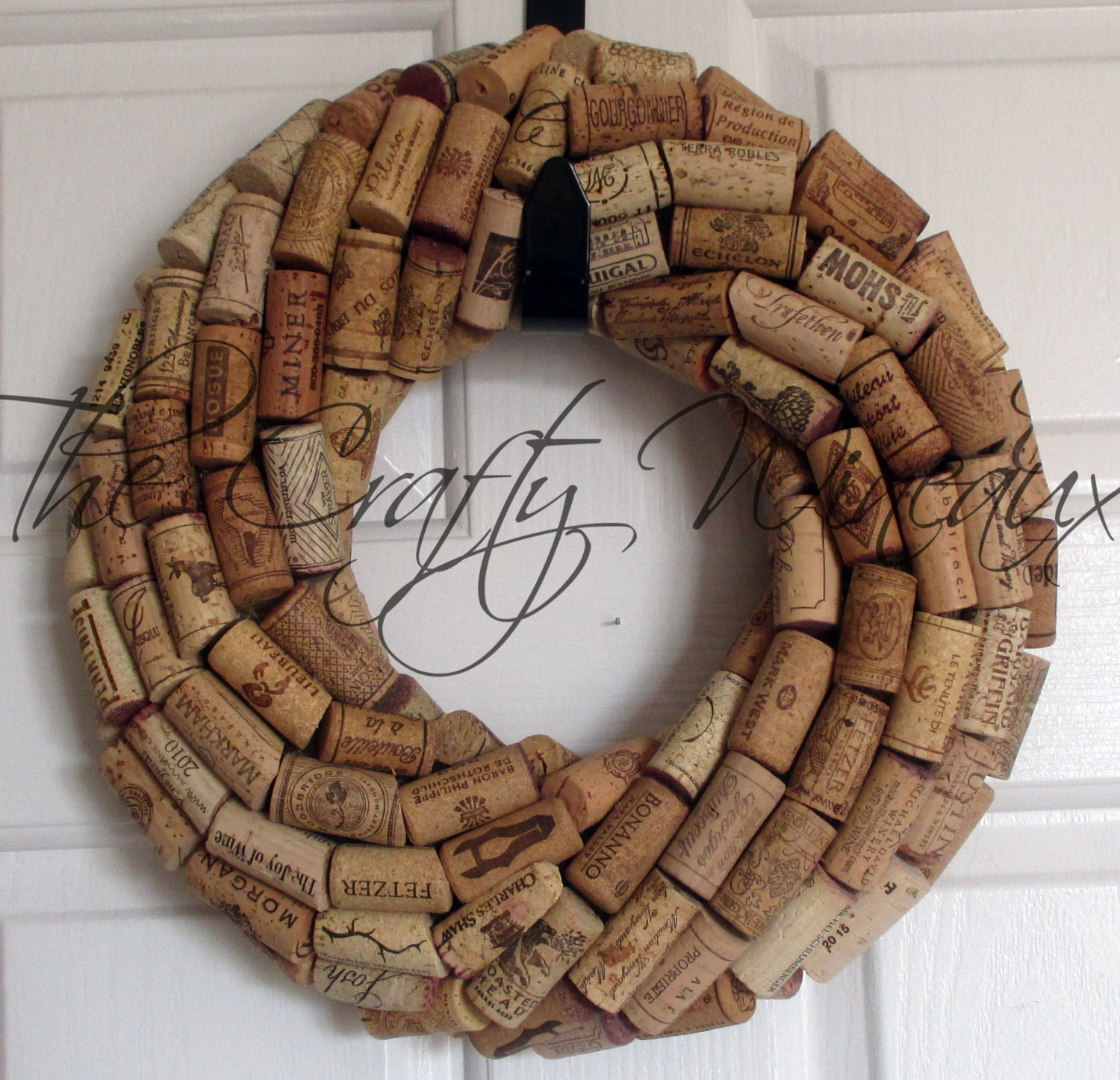 Cork Wreath: Small 10 Handmade Wine Cork Wreath Without Grapes/No