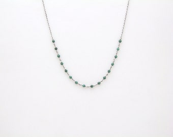 Malachite Sterling Gemstone Necklace