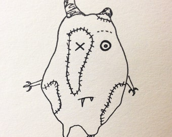 """The Mini Monster Illustrations - """"Vamerty"""""""