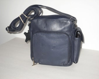 Cross-body Leather Purse with Organizer