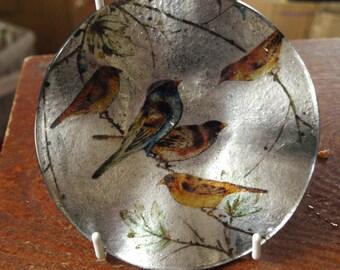 Little Birdies Small Round Dish