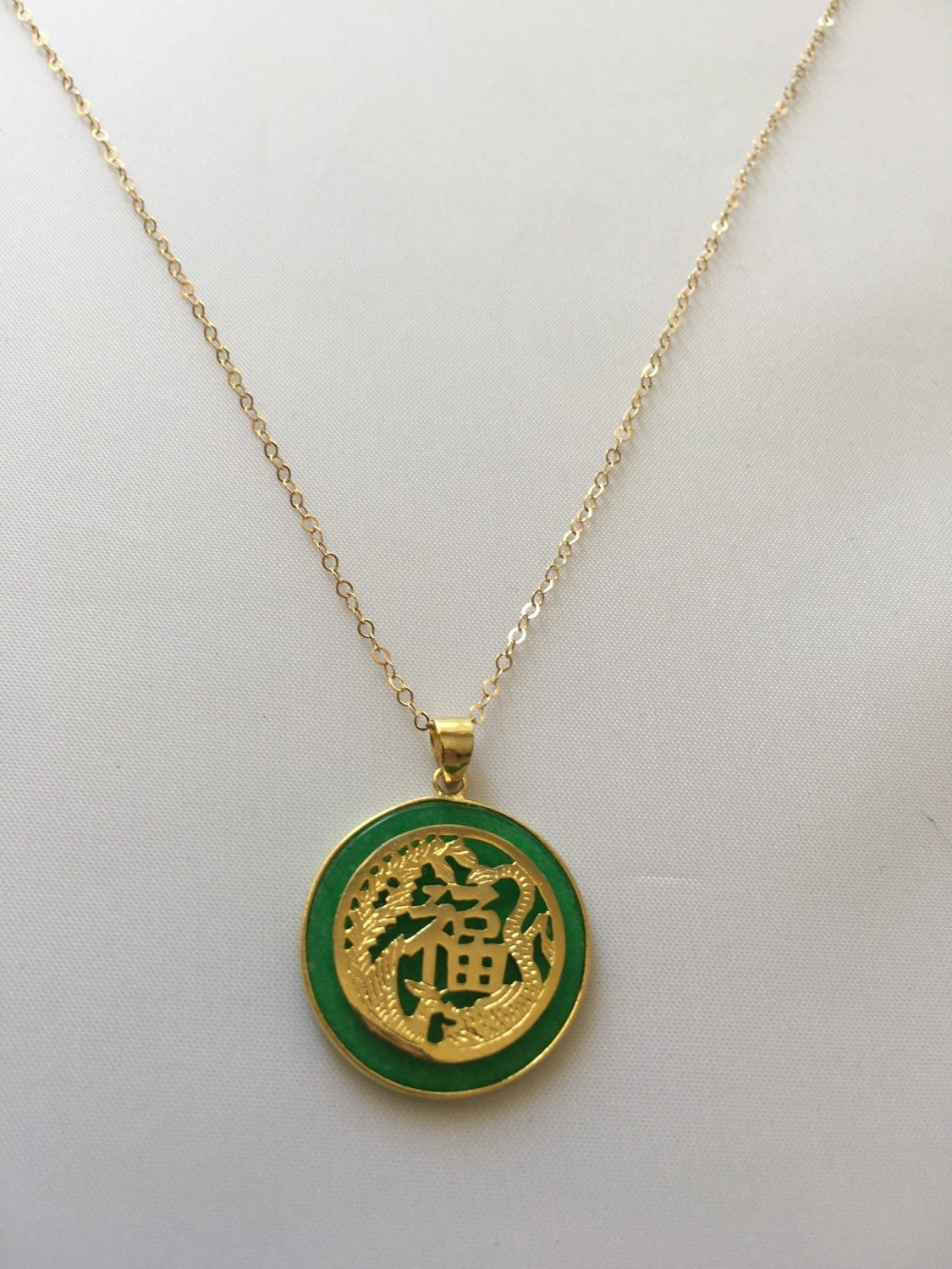 Jade pendant necklace gemstone jewelry chinese charms for Pictures of jade jewelry