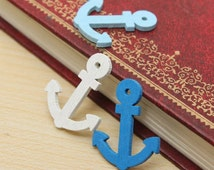 Colorful Wooden Anchor Design Buttons - Craft, Sewing, Scrapbooking Embellishment, Cute, Baby Shower, Birthday