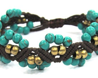 Hipster bracelet SHO 333 dark brown
