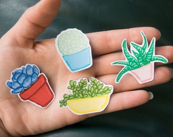 Succulent Magnets Set of Four
