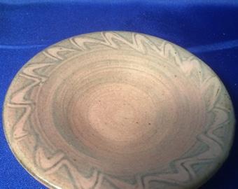 Studio Pottery Bowl, Ceramic Bowl, slipware Bowl, marked M or W