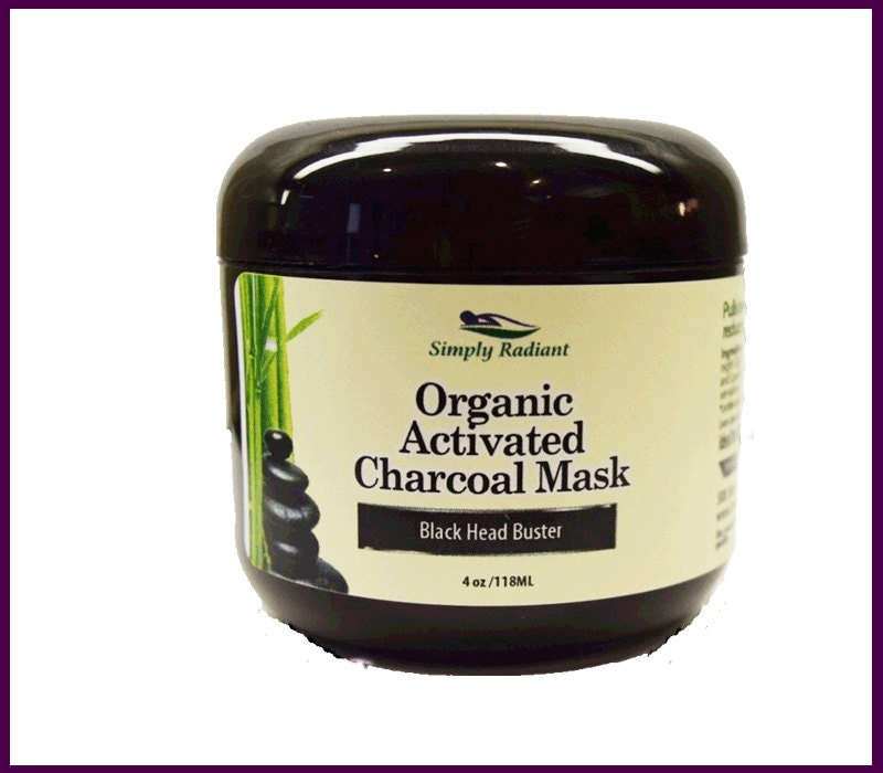 Organic Activated Charcoal Face Mask: Organic Activated Charcoal Mask VEGAN By SimplyRadiantBeauty