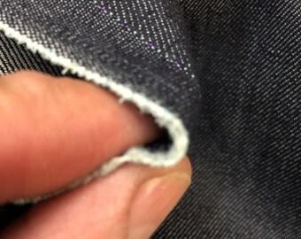 50 in w one way stretch Ironside grey color Denim Fabric by the yard