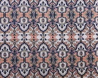 100% Rayon challis Mandala Pattern Fabric by the yard