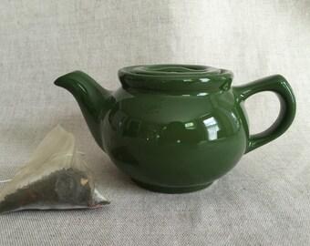 Green China Teapot, Individual Size, 1 Cup