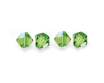 CLEARANCE - 4mm Peridot Swarovski Crystal Bicone 5328 - 144 Beads (One Gross)