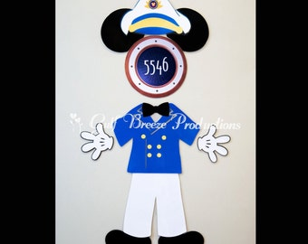 Captain Mickey Mouse Magnet for Disney Cruise Door