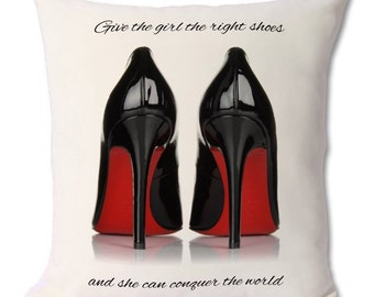 Louboutin shoe cushion 46x46cm
